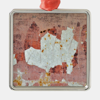 chipped paint rusty metal Silver-Colored square decoration