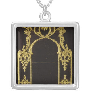 Chippendale mirror, c.1750 silver plated necklace
