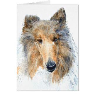 Chipper the Collie Notecard Note Card