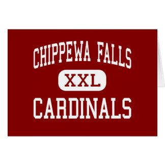 Chippewa Falls - Cardinals - High - Chippewa Falls Greeting Cards