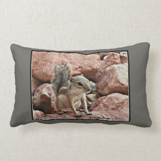 Chippy Ground Squirrel Lumbar Pillow