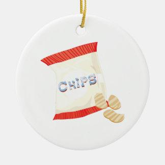 Chips Bag Round Ceramic Decoration