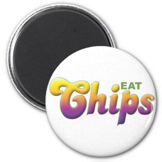 Chips, Eat 6 Cm Round Magnet