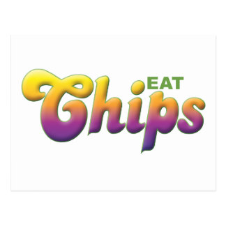 Chips, Eat Postcard