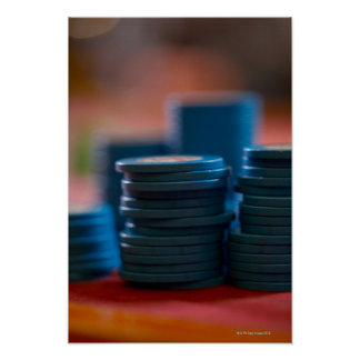 Chips on betting table 3 print