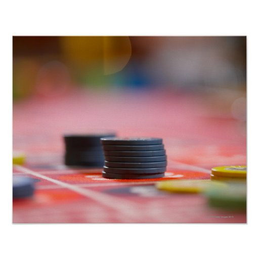 Chips on betting table 3 posters