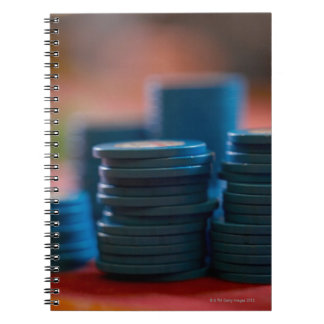 Chips on betting table notebook