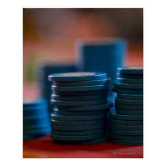 Chips on betting table print