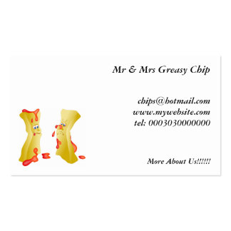 Chips Pack Of Standard Business Cards