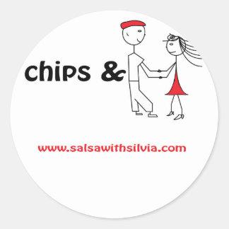 Chips & Salsa Round Sticker