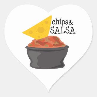 Chips & Salsa Heart Stickers
