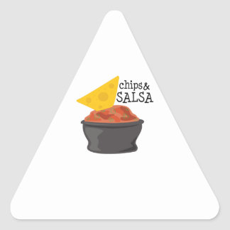 Chips & Salsa Triangle Stickers