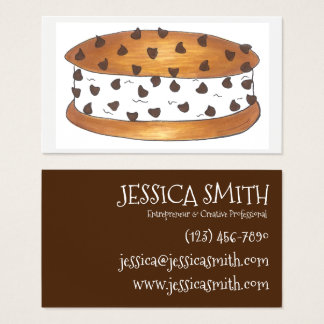 Chipwich Chocolate Chip Cookie Ice Cream Sandwich Business Card
