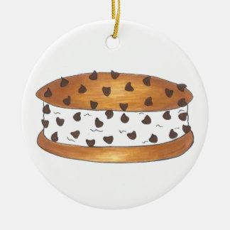 Chipwich Chocolate Chip Cookie Ice Cream Sandwich Round Ceramic Decoration