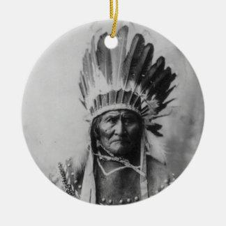 Chiricahua Apache Geronimo Goyathlay Goyahkla Round Ceramic Decoration
