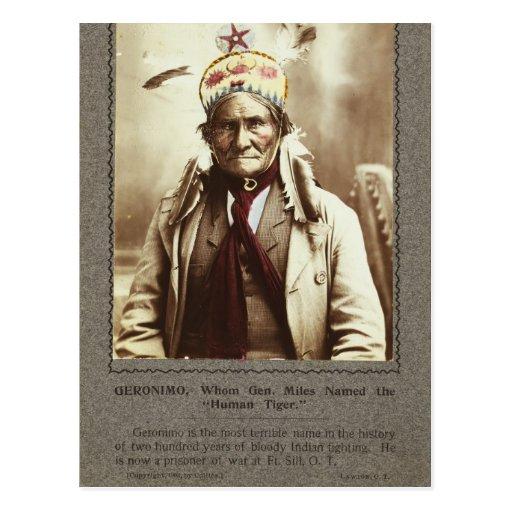 Chiricahua Apache Indian Leader Geronimo Portrait Postcard