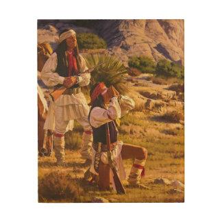 Chiricahua Apache Wood Print