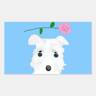Chiro the dog Jack russell terrier Rectangular Sticker