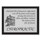 Chiropractic Adjustment Quotes Sayings Poster