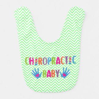 Chiropractic Baby Green Bib