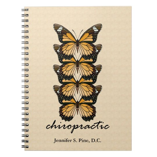 Chiropractic Butterflies Notebook