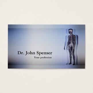 Chiropractic Chiropractor Human Body Blue Card