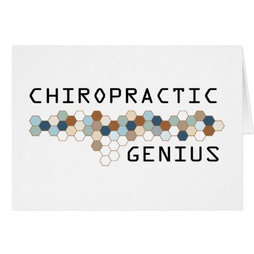 Chiropractic Genius Greeting Card