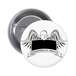 Chiropractic Health Angel Sign Symbol 2 Inch Round Button