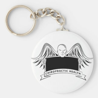 Chiropractic Health Angel Sign Symbol Basic Round Button Key Ring