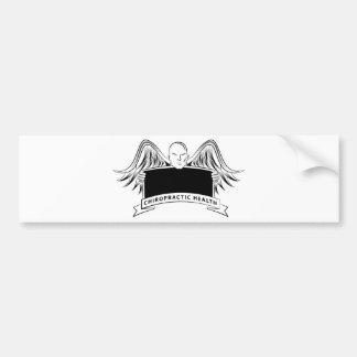 Chiropractic Health Angel Sign Symbol Bumper Sticker