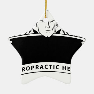 Chiropractic Health Angel Sign Symbol Ceramic Star Decoration