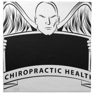 Chiropractic Health Angel Sign Symbol Cloth Napkin