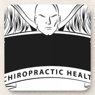 Chiropractic Health Angel Sign Symbol Coaster