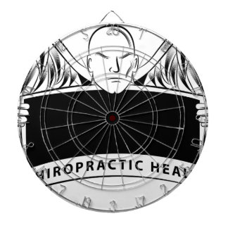 Chiropractic Health Angel Sign Symbol Dartboard