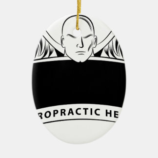 Chiropractic Health Angel Sign Symbol Ceramic Oval Ornament