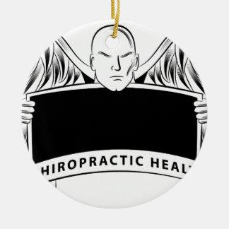 Chiropractic Health Angel Sign Symbol Round Ceramic Decoration