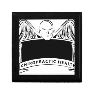 Chiropractic Health Angel Sign Symbol Keepsake Boxes