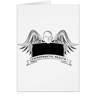 Chiropractic Health Angel Sign Symbol Greeting Card