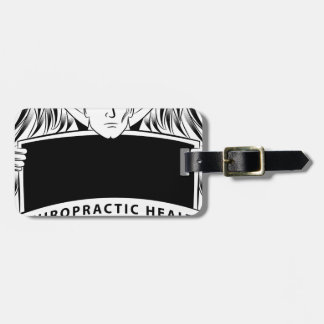 Chiropractic Health Angel Sign Symbol Luggage Tag
