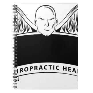 Chiropractic Health Angel Sign Symbol Note Book