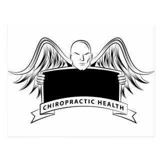 Chiropractic Health Angel Sign Symbol Postcard