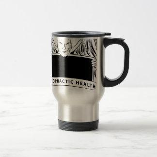 Chiropractic Health Angel Sign Symbol Stainless Steel Travel Mug