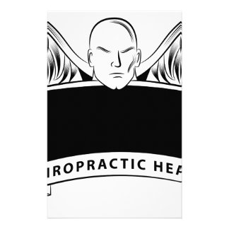 Chiropractic Health Angel Sign Symbol Stationery