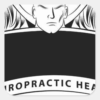 Chiropractic Health Angel Sign Symbol Square Sticker