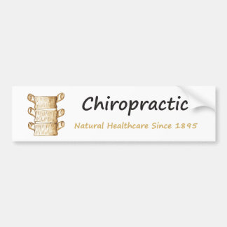 Chiropractic Natural Healthcare Since 1895 Bumper Sticker