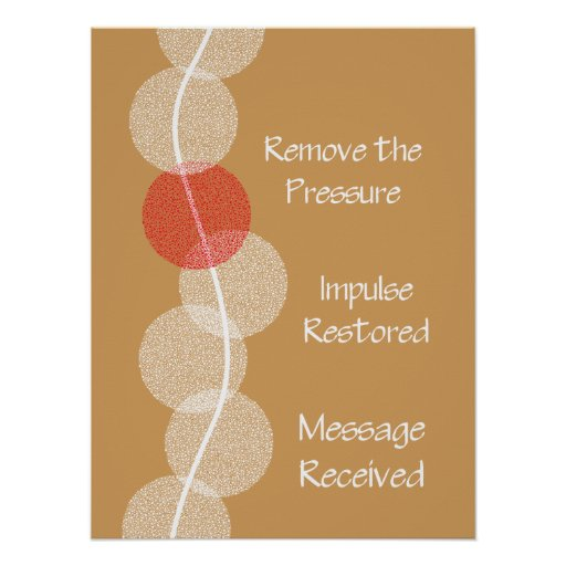 Chiropractic Nerve Impingement Poster Customise
