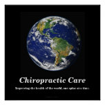 Chiropractic Poster: Improving the World's Health
