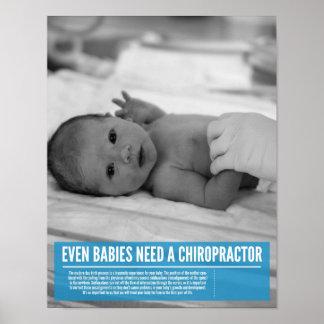 Chiropractic poster - infants need adjustments too