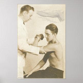 Chiropractic Shoulder Exam Vintage Print