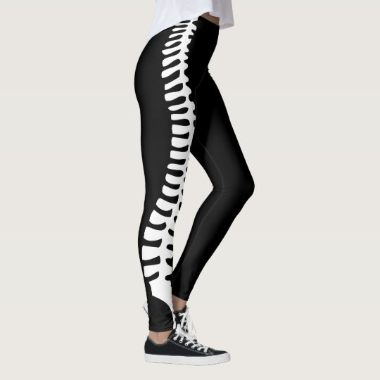 Chiropractic spine leggings with customisable name